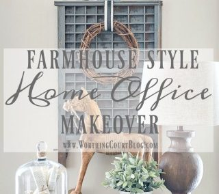 The Evolution Of A Farmhouse Style Home Office – Before And After