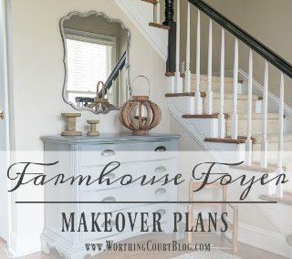 Farmhouse Style Makeover Plans For My Suburban Foyer
