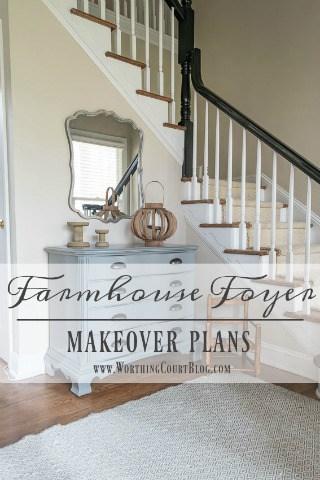 Farmhouse Style Makeover Plans For A Suburban Foyer
