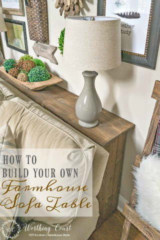 How To Build A Farmhouse Sofa Table
