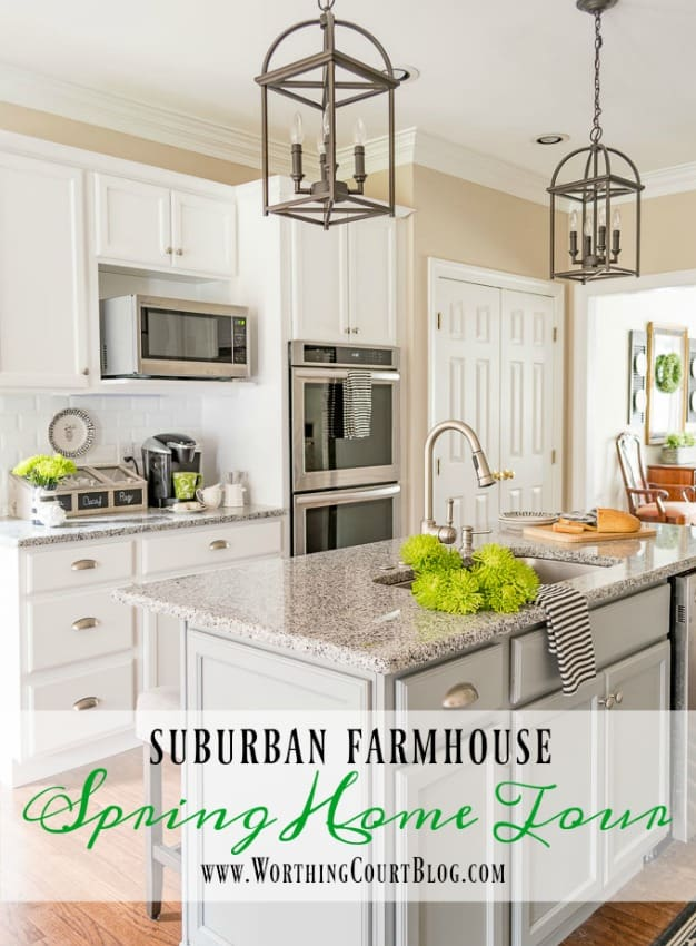Suburban Farmhouse Spring Home Tour || Worthing Court
