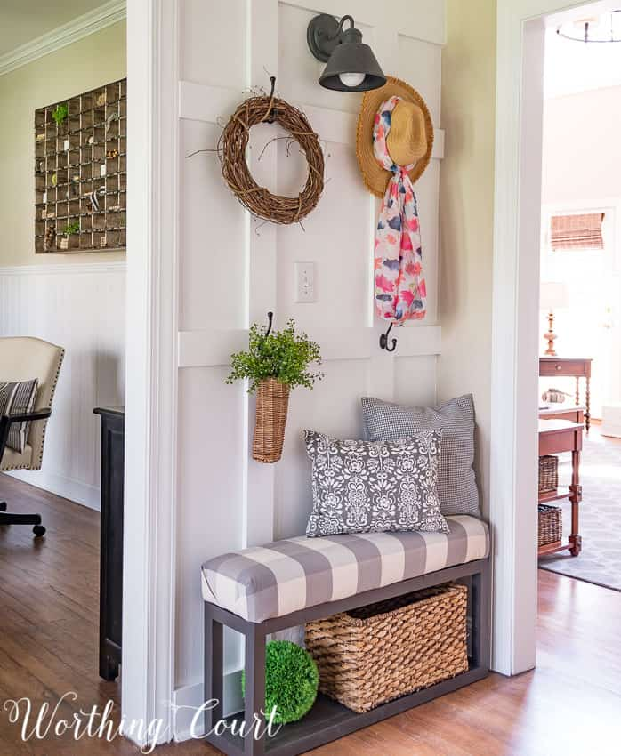 How To Style A Farmhouse Board And Batten Wall || Worthing Court