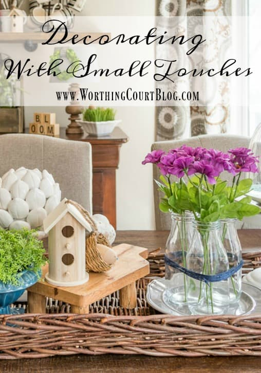 Small Touches Make All The Difference - Decorating With Twine || Worthing Court