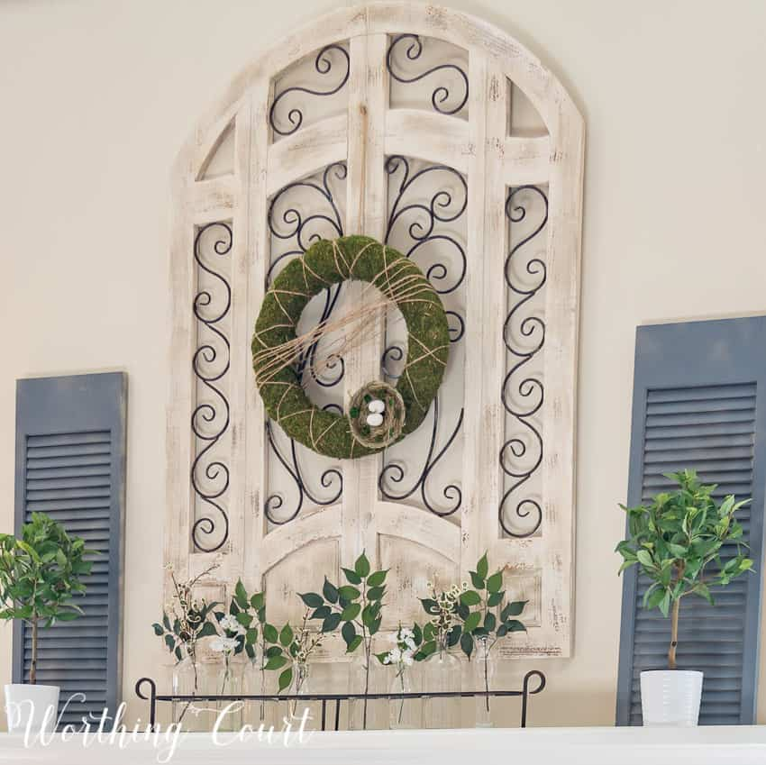 Easy to make moss covered wreath || Worthing Court
