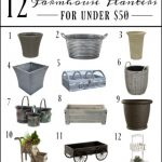 12 Farmhouse Indoor Or Outdoor Planters For Under $50