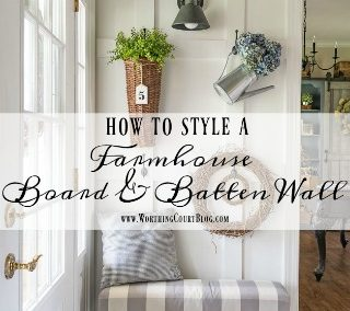 How To Style A Farmhouse Board And Batten Wall