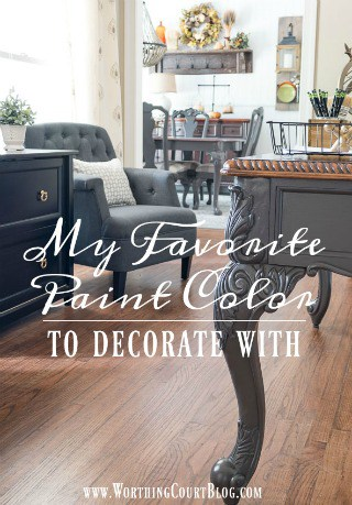 My Favorite Paint Color To Decorate With