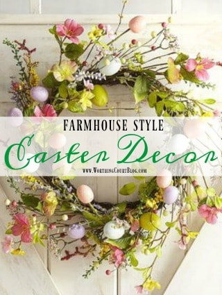 Affordable Farmhouse Style Easter Decor Under $25 || Worthing Court