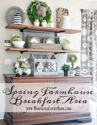 It's All About The Green – Spring In My Breakfast Area