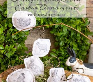 A Super Cute And Easy Easter Craft Using Stamps And Dropcloth