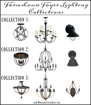 Farmhouse Foyer Lighting Collections
