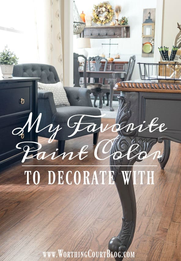 My Favorite Paint Color To Decorate With || Worthing Court
