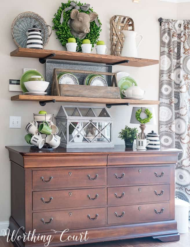 Ideas To Decorate A Kitchen Dresser