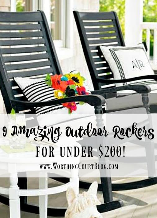 9 Amazing Outdoor Rocking Chairs Under 200 Worthing Court