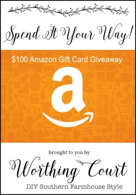 $100 Amazon Gift Card Giveaway From Worthing Court
