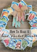 How To Make A Seed Packet Wreath || Worthing Court