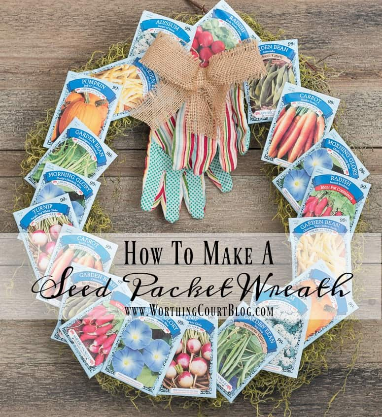 Step by step directions for making this adorable fun and easy spring wreath. || Worthing Court