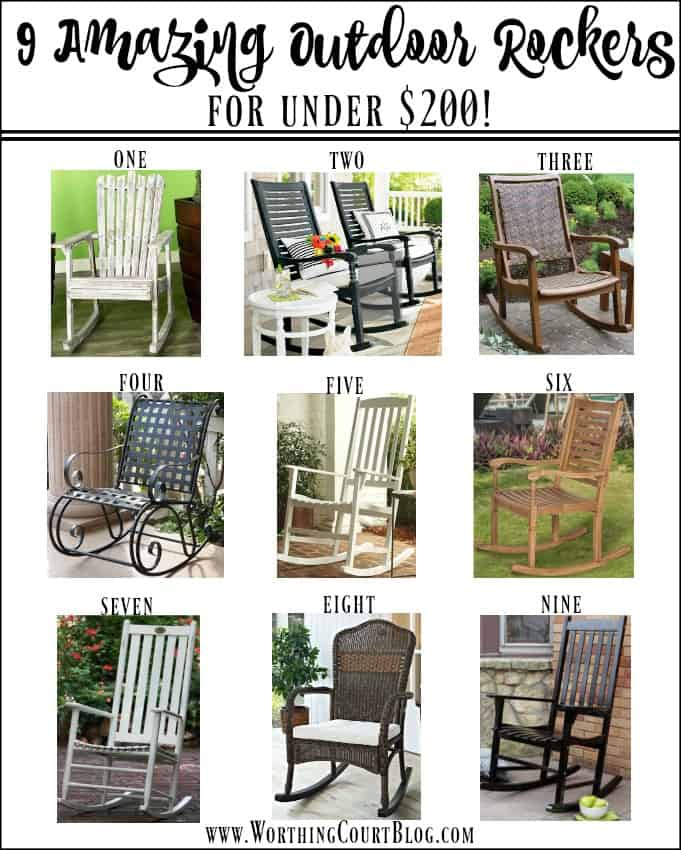 9 Amazing Outdoor Rocking Chairs For Under $200! || Worthing Court