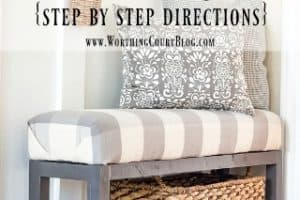 How To Build And Upholster This Easy Farmhouse Bench – Part 1