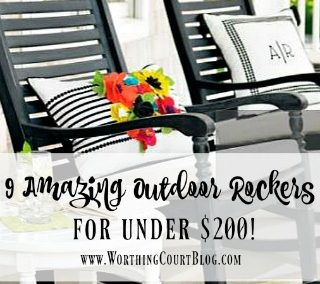 9 Amazing Outdoor Rocking Chairs Under $200