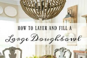 How To Create A Spring And Summer Centerpiece With A Dough Bowl