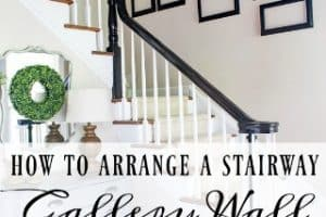 How To Arrange A Stairway Gallery Wall