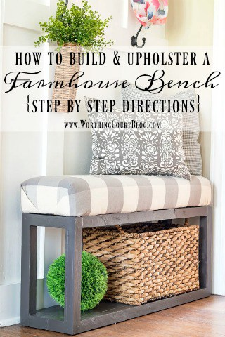 How To Build And Upholster This Easy Farmhouse Bench