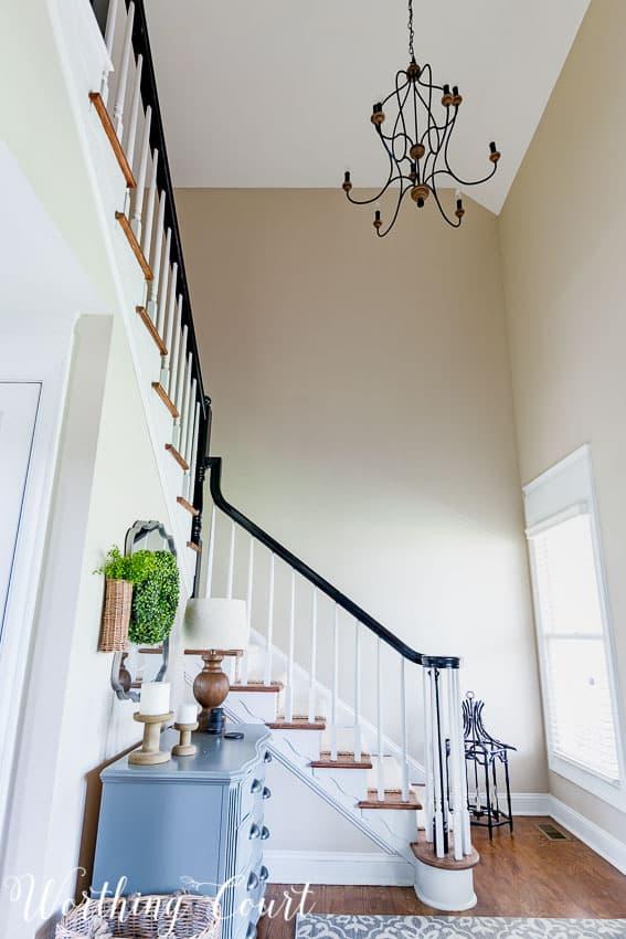 Blank stairway wall