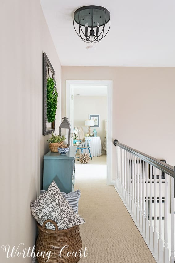 Use a narrow cheat in that dead space in the hallway at the top of your stairs || Worthing Court