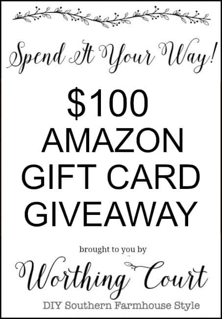 Amazon gift card giveaway poster.