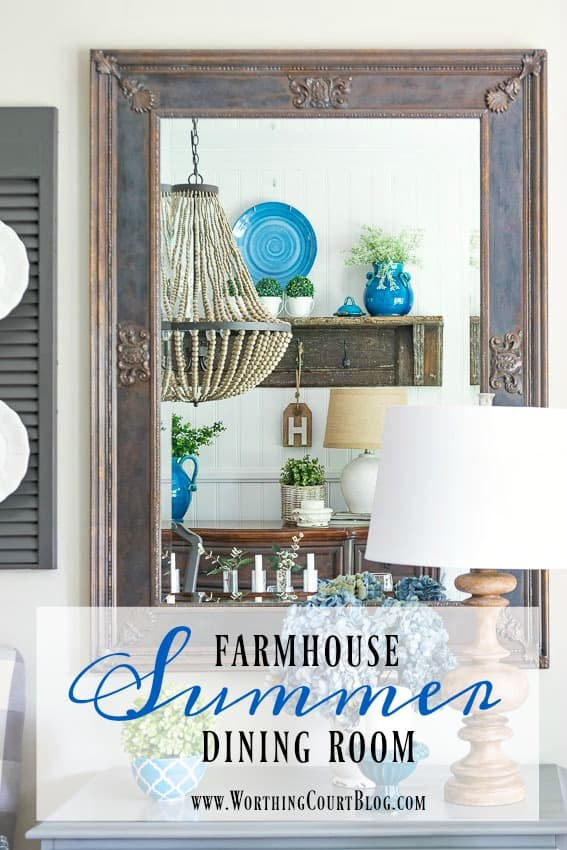 Late Spring Early Summer Farmhouse Dining Room