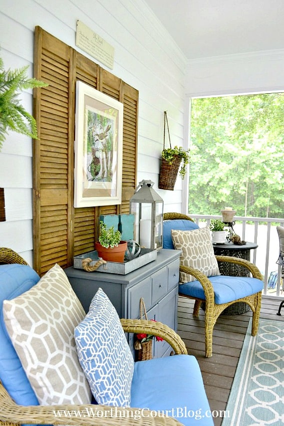 Screen porch decor || Worthing Court
