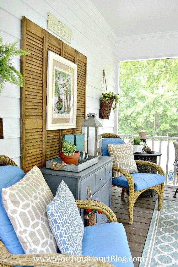 Screen porch decor || Worthing Court