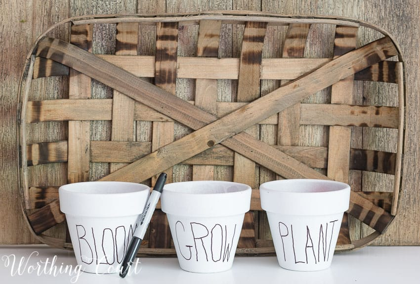 Copy Cat White Clay Flower Pots Tutorial - Under $10 || Worthing Court