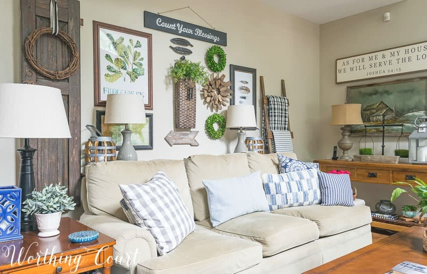 Family room summer decor ideas || Worthing Court
