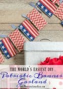 How To Make The World's Easiest Patriotic Banner Garland