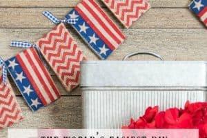 Super Easy Patriotic Banner – No Sewing!