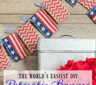 Super Easy Patriotic Banner – No Sewing!