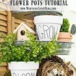Copy Cat DIY White Clay Flower Pots Tutorial