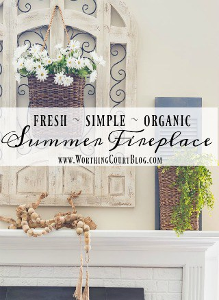 How To Keep Your Fireplace Decor Simple For The Summer