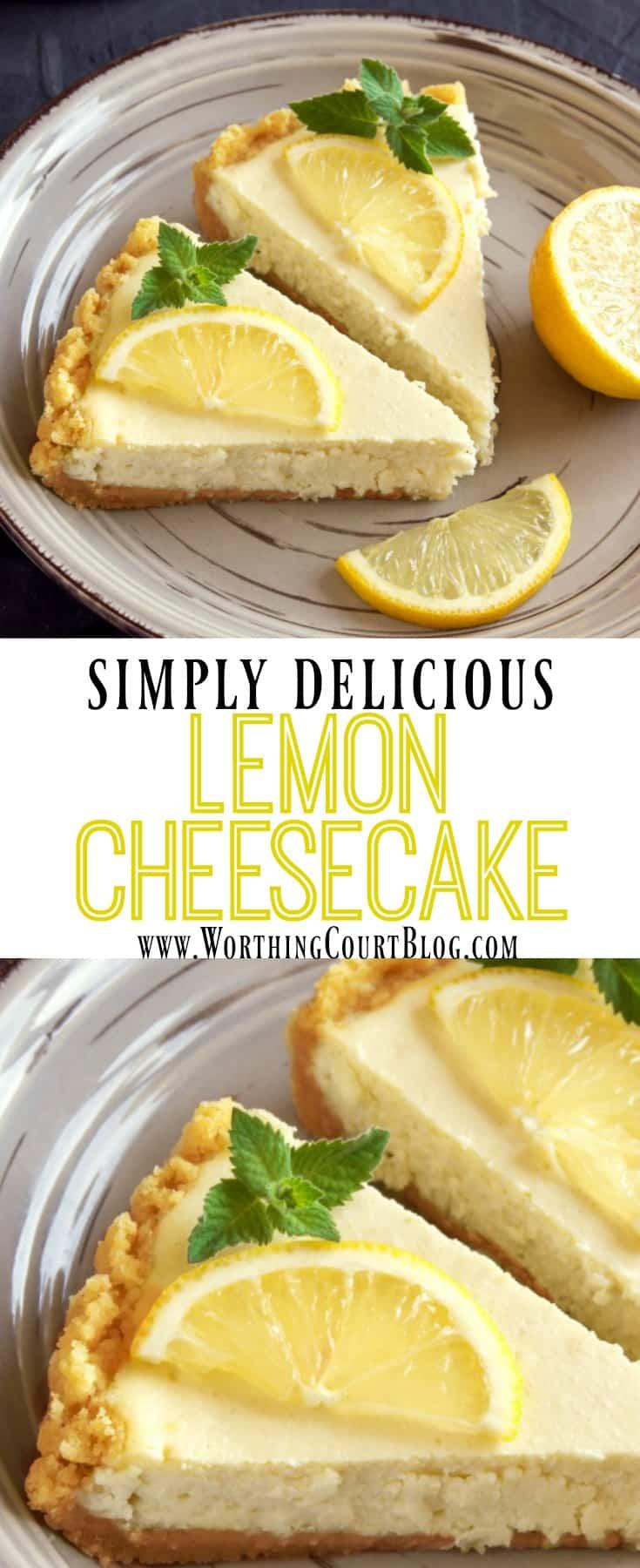 An easy recipe for lemon cheesecake || Worthing Court