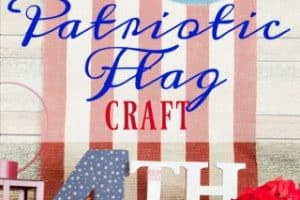 Patriotic Red, White And Blue Flag Craft