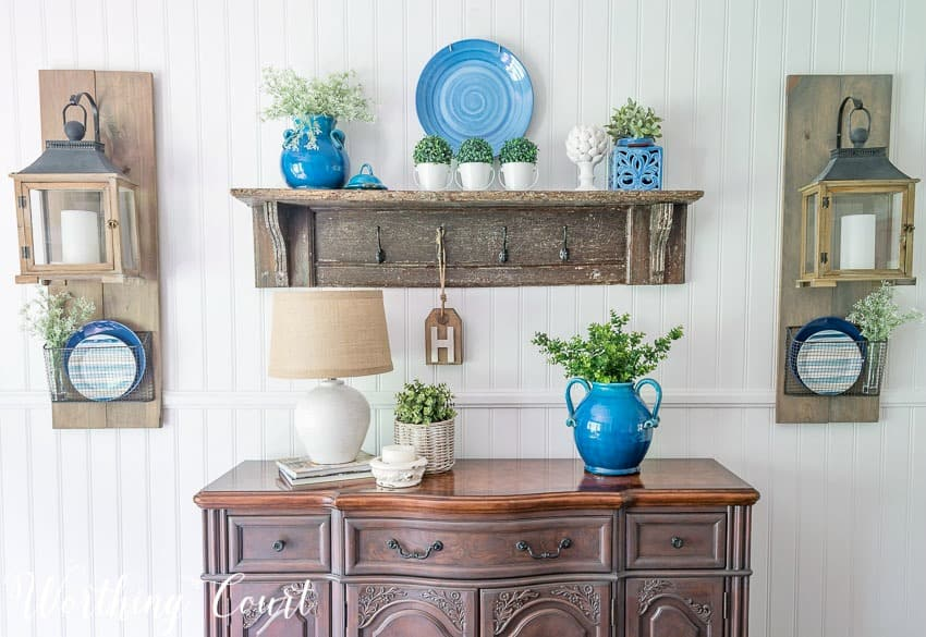 Summer sideboard decor || Worthing Court