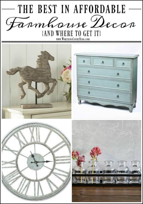 The Best Affordable Farmhouse Decor Finds || Worthing Court