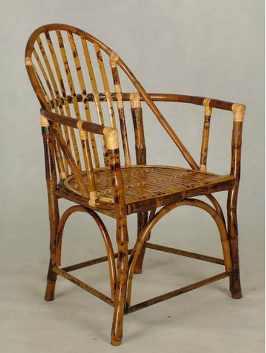 Rattan arm chair with classic Windsor chair lines || Worthing Court