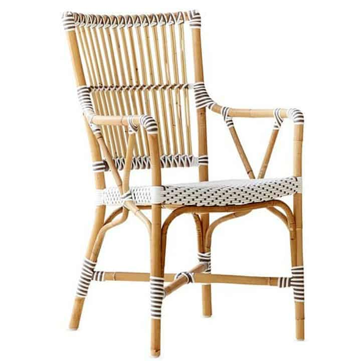 Rattan arm chair || Worthing Court