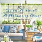 Screen Porch Refresh and Creating A Relaxing Oasis
