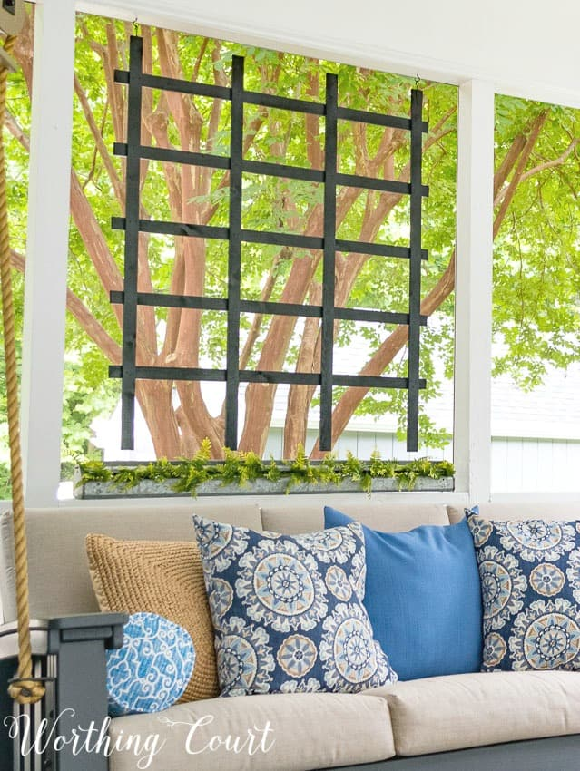 Loads of tips for creating a relaxing oasis on your porch || Worthing Court