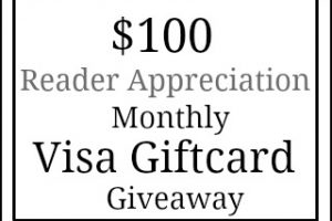 $100 Visa Gift Card Giveaway + June Recap
