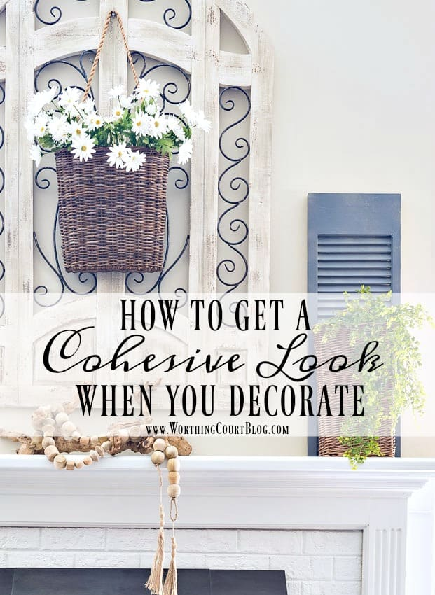 These tips will help you decorate a room with a cohesive look so that your friends and family will think that you've hired a professionally trained interior designer || Worthing Court